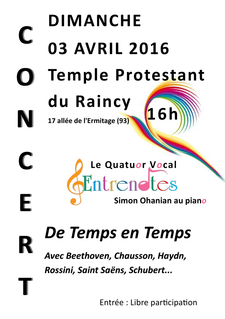 Affiche Le Raincy 03 avril 2016